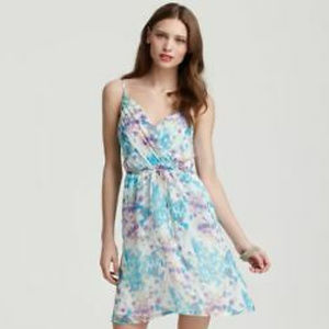 Yumi Kim 100% Silk Goddess Floral Watercolor Dress